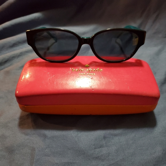 Kate Spade Halle Black/Aqua Prescription Frames